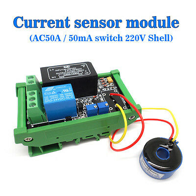 AC Detection Sensor Module The Maximum 50A Switch Output AC 220V Unshelled