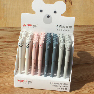 4pcs 0.35mm Erasable Pen Blue Gel Ink Pens Set School Kids Students Stationery Q