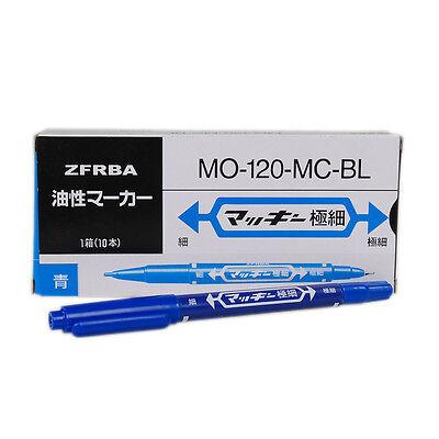 10 pcs Blue Color Tattoo Piercing Skin Marking Pen Dual-tip Disposable Marker