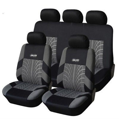 Embroidery Full Car Seat Covers Set Universal Seat Protector Tire Track Feature for sale  Shipping to Canada