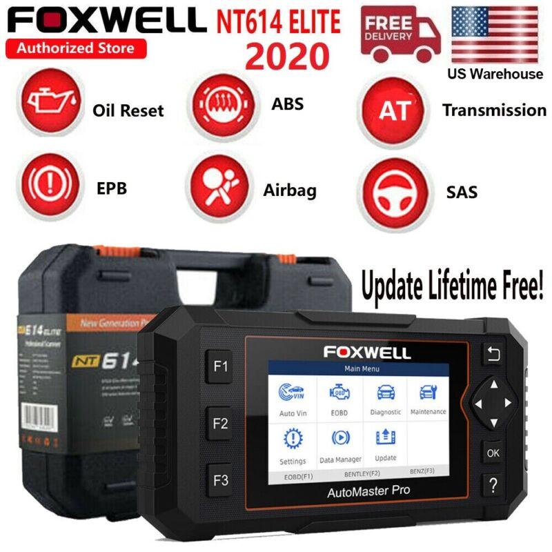 2020 Auto Scanner OBD2 Diagnostic Car Code Reader Oil EPB FOXWELL NT614 Elite US