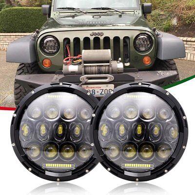 7 INCH Projector LED Headlight Headlamps For Jeep Wrangler JK JKU TJ LJ CJ