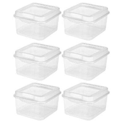 Sterilite 1803 Flip Top Storage Box Container Hinged Lid Plastic Clear, 6-Pack Hinged Storage Container