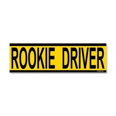 CafePress Rookie Driver Car Magnet 10 x 3, Magnetic Bumper S