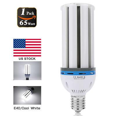 65W LED Corn Light Bulb E39 Mogul Replace 400Watt Metal Halide Parking Lot (400 Watt Mogul Bulb)