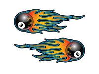 Pool Billiard 8-Ball in Flammen Buckle Flaming Eight Gürtelschnalle