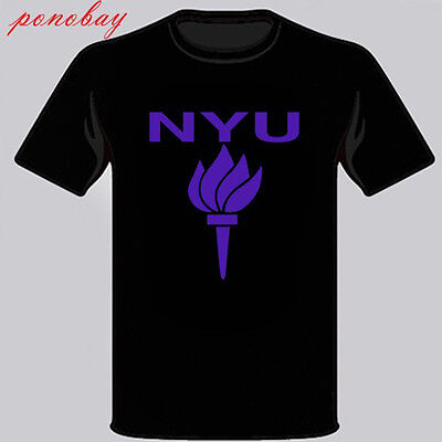 New York University Logo Symbol Mens Black T Shirt Size S M L Xl 2Xl 3Xl