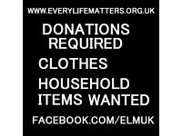 Wanted/tops/clothes/household items for a foodbank charity