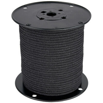 Polyester Rope - BlueWater Ropes Polyester Utility Cord 4mm x 100M - Black