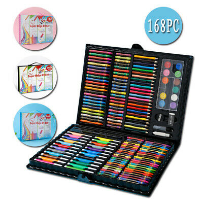 ART SUPPLIES KIT Kids Sketching Adults Painting Artist 168 Piece Drawing Set