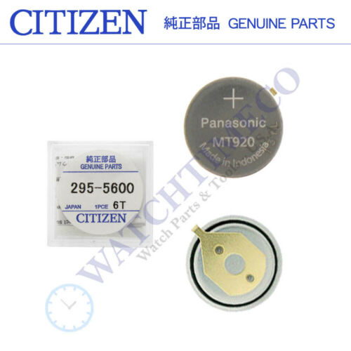 Citizen Eco-Drive 295-56 295-5600 MT920 Rechargeable Battery Capacitor Sealed