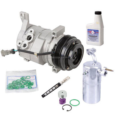 AC Compressor w/ A/C Repair Kit For Chevy Silverado GMC Sierra Escalade