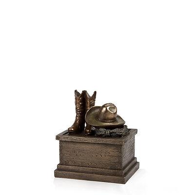 Perfect Memorials Small Cowboy Boots Cremation Urn