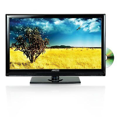 Axess TV1801-13 13.3 inch High Definition LED TV with AC/DC TV, DVD Player New