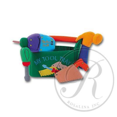 Rosalina My Tool Tray Playbag Green w/Hammer, Electric Drill, Saw & Screwdriver