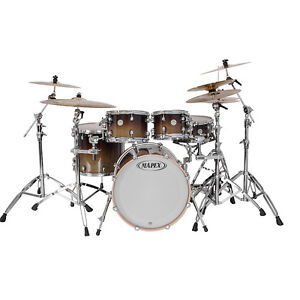 Mapex Meridian Maple 5pc The Smasher Shell Pack Chestnut Fade Drum Set MP509S