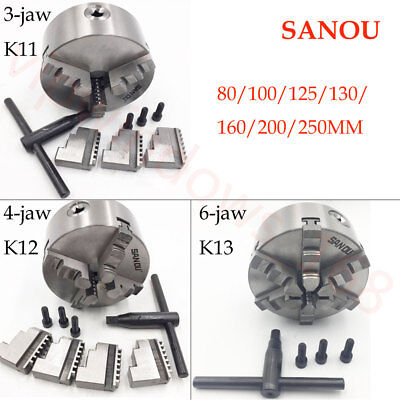 3jaw 4jaw 6jaw Lathe Chuck Self-centering Hardened Jawswrench For Metal Lathe