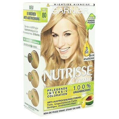 Garnier Haarfarbe (Garnier Nutrisse Cremehaarfarbe 80 Vanille Blond)