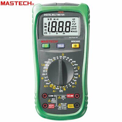 Mastech Ms8360e Digital Multimeter 2000 Counts Non-contact Voltage Detector