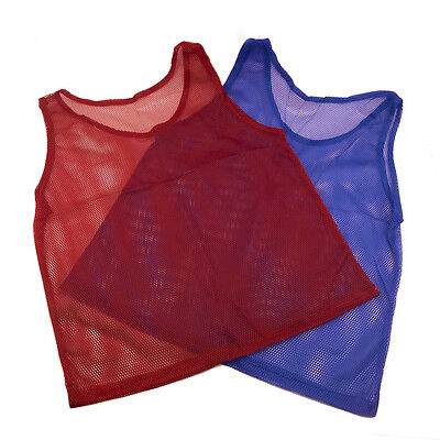 Pinnies Youth Practice Team Jerseys Mesh Scrimmage Training Vest Sports Red (Mesh Scrimmage Vest)