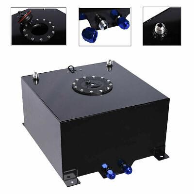 10 Gallon Lightweight Aluminum Race Drift Fuel Cell Tank+Level Sender Foam Black