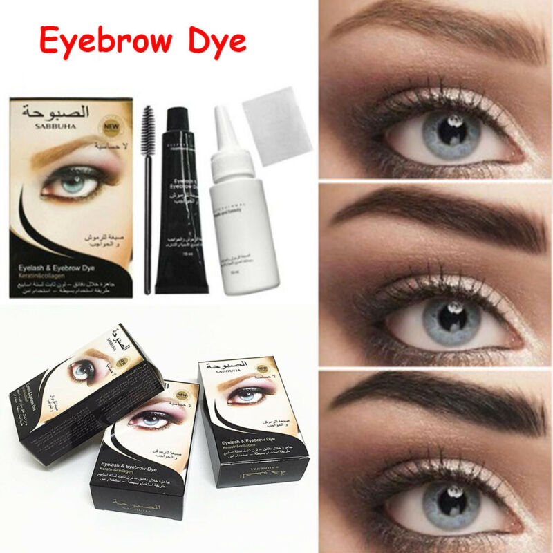 Makeup Pomade Cosmetic Mustache Brown Eyebrow Dye Tint Kit E