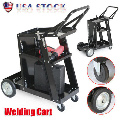 3-tier Welder Welding Cart Plasma Cutter Mig Tig Arc Universal Storage For Tanks