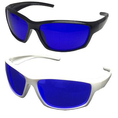 Golf Ball Finder Glasses Wrap Around Sports Style True Blue Lens Sunglasses NEW - Golf Ball Sunglasses