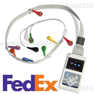 Portable Dynamic 12 Channel Holter Ecg 24h Ekg Monitorsync Software Fda Us