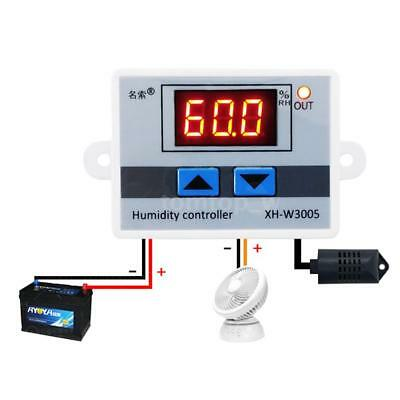 Xh-w3005 12v Led Digital Humidity Controller Hygrometer Switch With Sensor R8s0