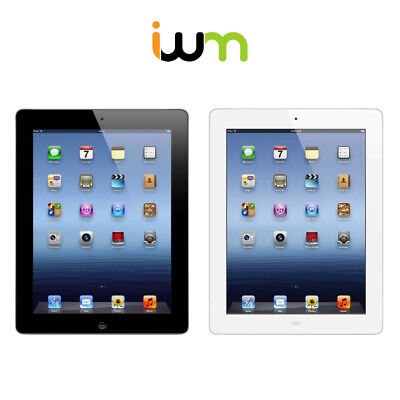 Apple iPad 4 16GB 32GB 64GB 128GB WiFi OR Cellular Black / White