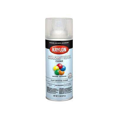 Krylon K05547007 COLORmaxx Spray Paint & Primer, Flat Crystal Clear, 12 Oz