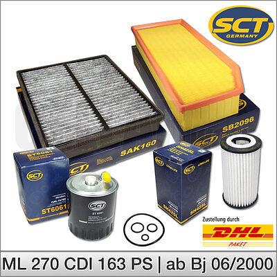 Mercedes Benz M-Klasse W163 ML 270 CDI | Inspektionspaket Filtersatz Filter