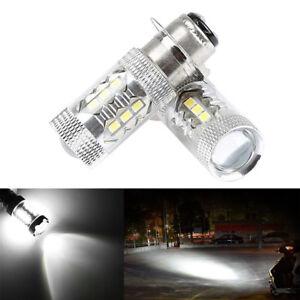2x H6 LED HeadLight Bulbs White Light For Yamaha YFZ450R Rhino 700 Raptor YFM660
