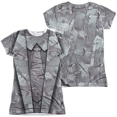 Duct Tape Suit Halloween Costume Juniors T-shirt Front & Back (Duct Tape Halloween Costumes)