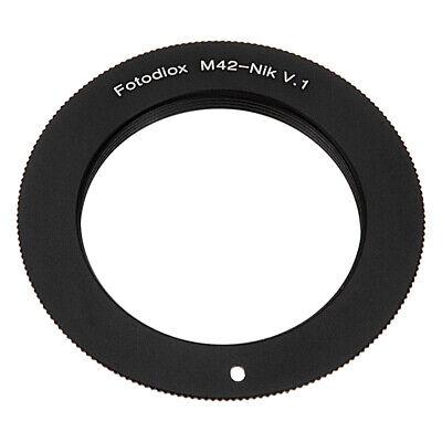 Fotodiox Lens Adapter for M42 Type 1 lens to Nikon F-Mount Cameras [M42-NikF-V1]