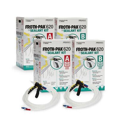 Spray Foam Insulation Kit Dow Froth-pak 620 2 Pack 1240 Board Feet Total