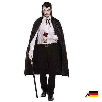 Herren VAMPIR UMHANG Hexen Lange Cape Halloween Fasching - Lange Capes
