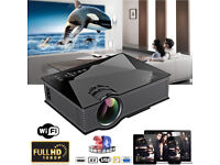 BRAND NEW,UC46 LED HD Projector Home Cinema Theater Airplay 1080P WiFi HDMI VGA USB 3D