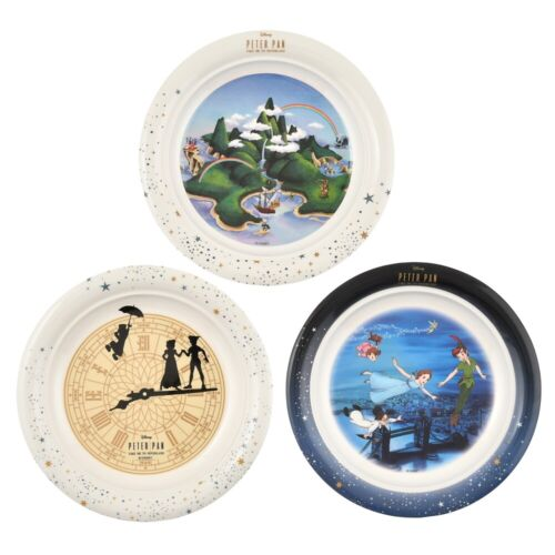 Disney Store Japan Peter Pan Plate Flying to Neverland Tinker Bell Melamine