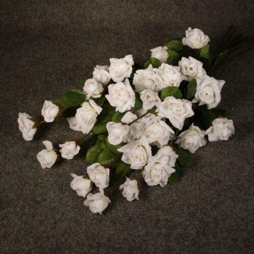 12 Piece Lot Artificial Rose Spray Wedding Flower White #00120902001