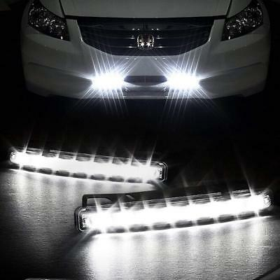 2x 8 LED Daytime Running Lights Car Driving DRL Fog Lamp Light White Bright 12V](Led Running)