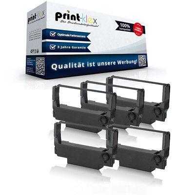 5x Kompatible Farbbänder für Epson ERC 30 Nylonband Kassette - Drucker Pro Serie - Epson Farbband Kassette