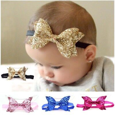 Baby Girls Child Big Ribbon Bow Snow white Party Xmas Hair band Headband (Xmas Headbands)