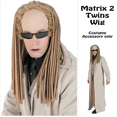 THE MATRIX TWINS MEN BLONDE ADULT WIG DREADLOCK HALLOWEEN HAIR COSTUME ACCESSORY - Twin Halloween Costumes Adults