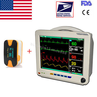 Usa Patient Monitor Multi-parameter Patient Monitor Nibp Spo2 Ecg Temp Resp Pr