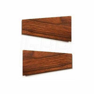 85-88 Cutlass Wood Grain Trim Door Panel Pull Strap Escutcheon Cover PAIR