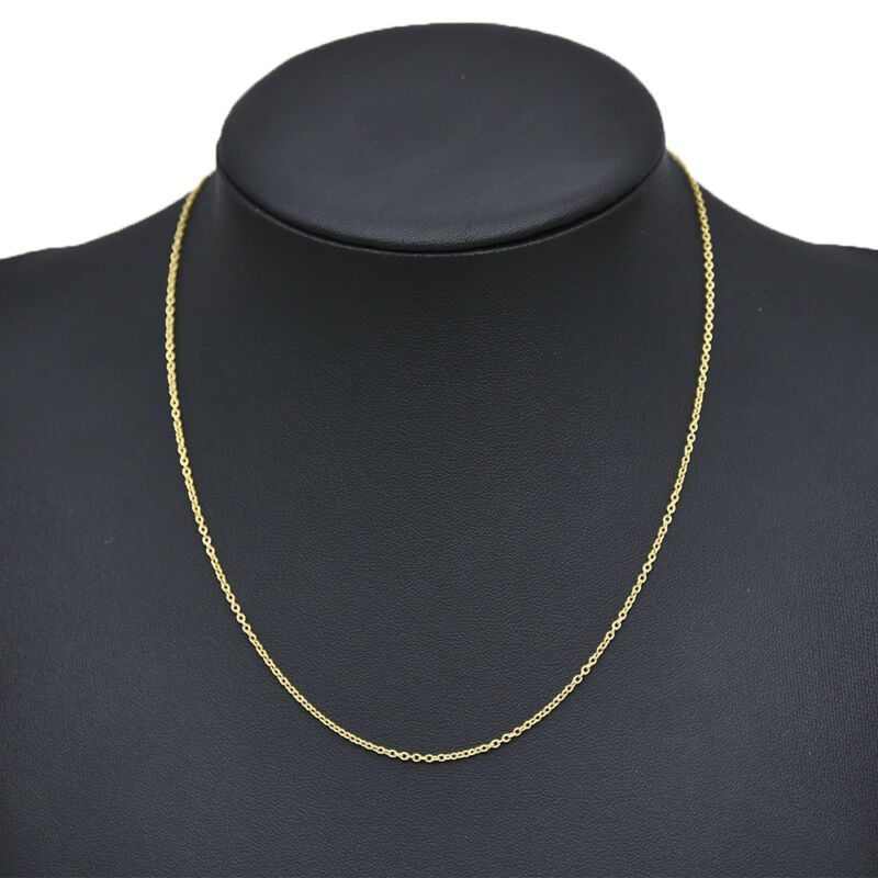 Gold Plated Stainless Steel Cross Chain Necklace for DIY Jew