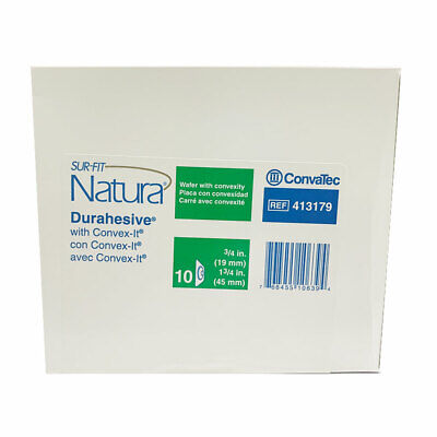 Box of 10 ConvaTec 413179 SUR-FIT Natura Durahesive Skin Barrier Free Shipping