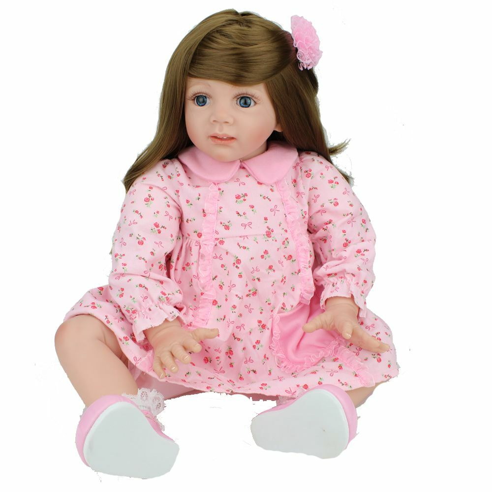 "24"" Reborn Baby Doll Long hair Girl Likelife Baby Toys ..."